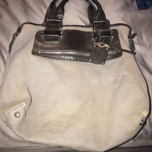 Large shopper canvas Chloe  tote